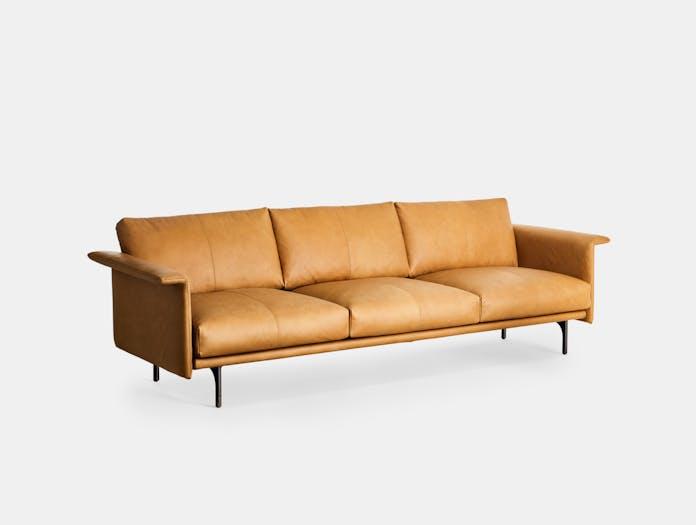 Montis otis sofa three seat tobacco leather