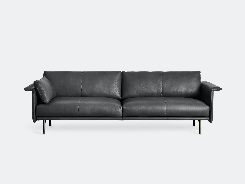 Montis otis sofa two seat black leather