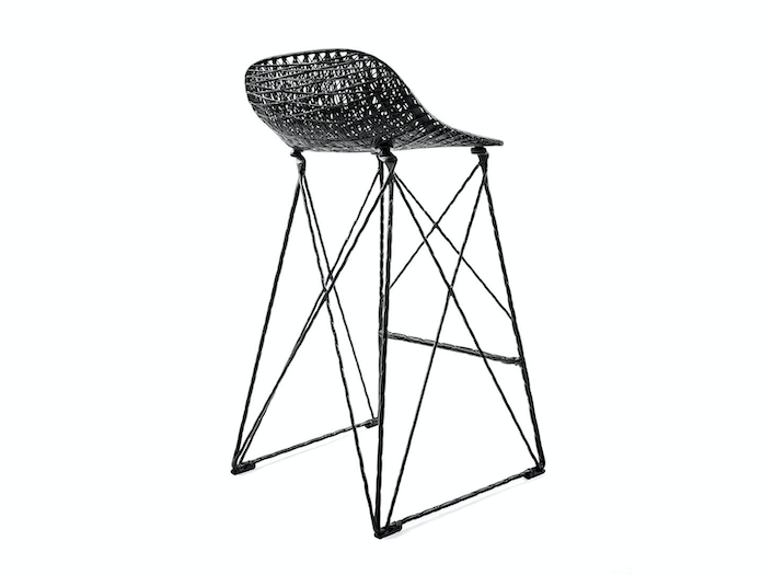 Moooi Carbon Bar Stool Back Bertjan Pot