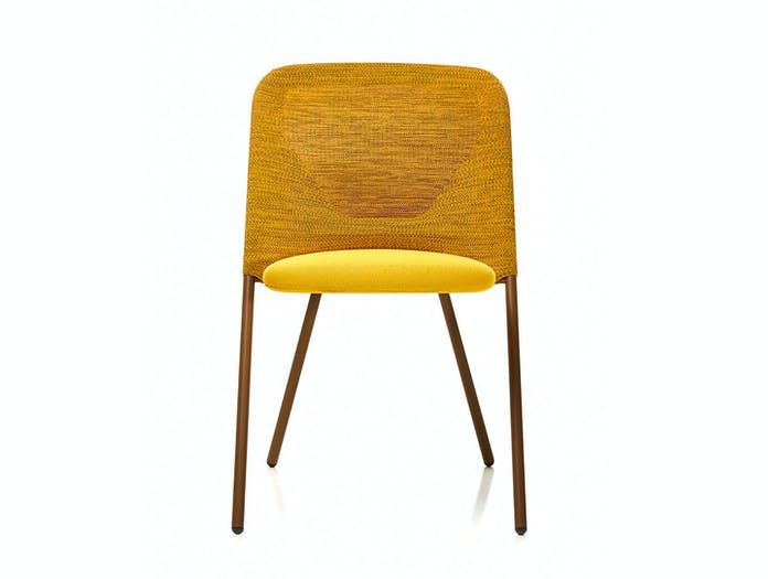 Moooi Shift Dining Chair Yellow Front Jonas Forsman