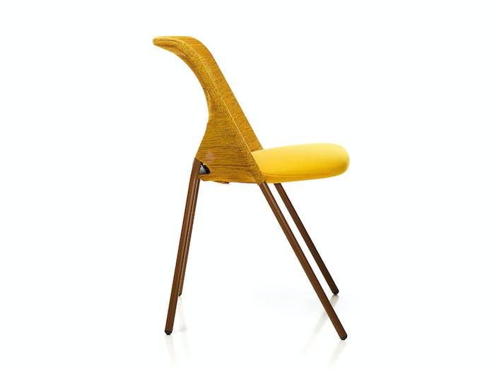 Moooi Shift Dining Chair Yellow Side Jonas Forsman