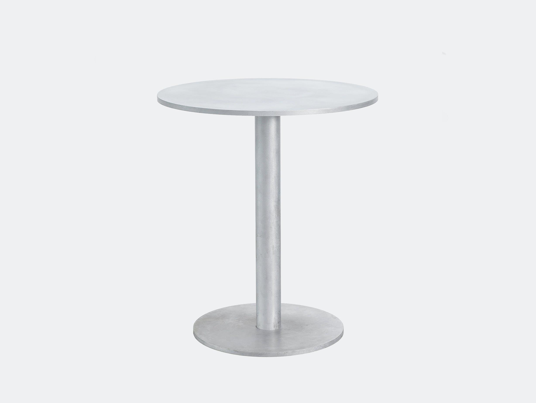 Muller van severen round table s aluminium valerie objects ivory