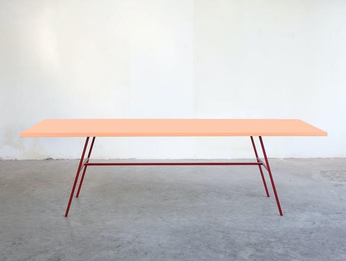 Muller Van Severen Long Table Pink Fien Muller Hannes Van Severen