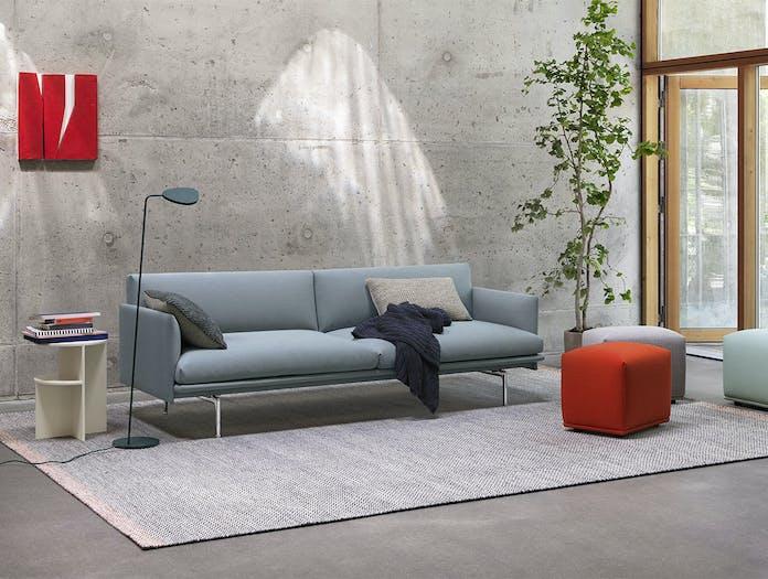 Muuto outline sofa steelcut trio 713 halves leaf