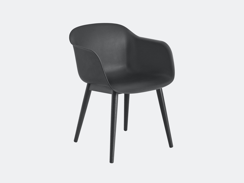 Muuto Fiber Chair Wood Base Black Iskos Berlin