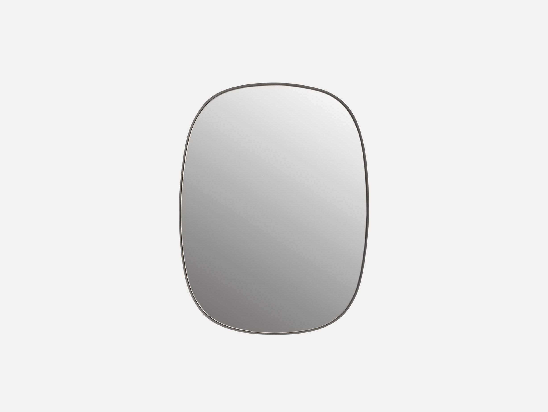Muuto Framed Mirror Small Grey Anderssen Voll