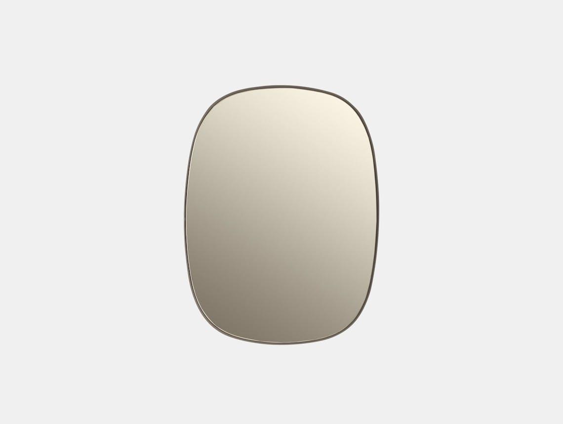 Muuto Framed Mirror Small Taupe Anderssen Voll