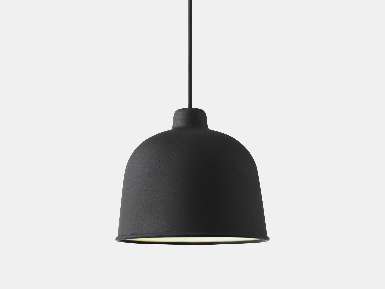 Muuto Grain Pendant Lamp Black Jens Fager