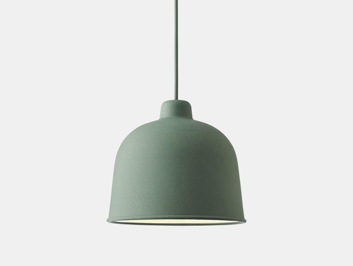 Muuto Grain Pendant Lamp Green Jens Fager