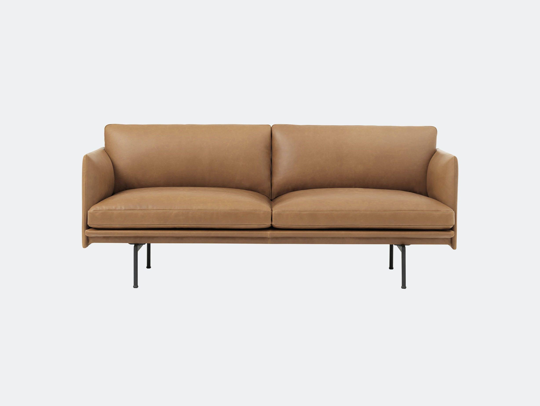 Muuto Outline 2 Seater Cognac Silk Leather Anderssen Voll