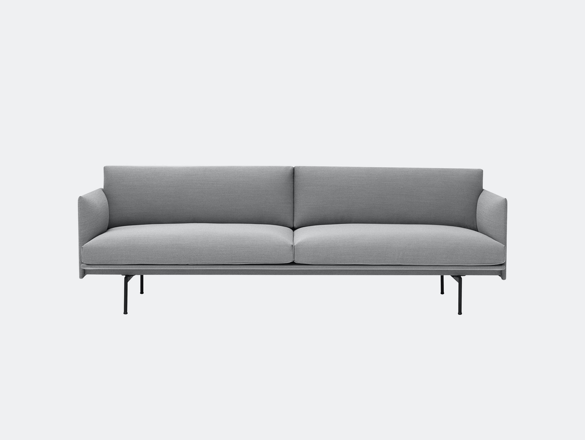 Muuto Outline Sofa 3 Seater Steelcut Trio 0133 Anderssen Voll