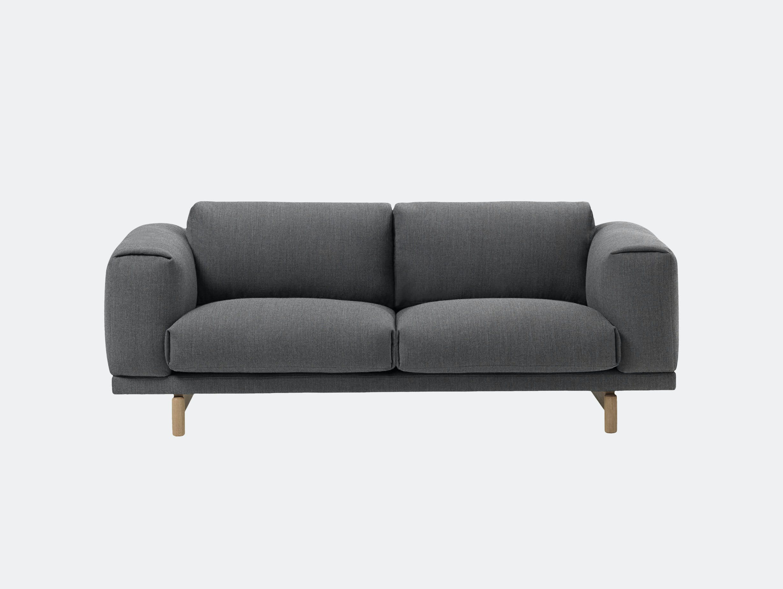 Muuto Rest Sofa 2 Seater Fiord 171 Oak Anderssen Voll