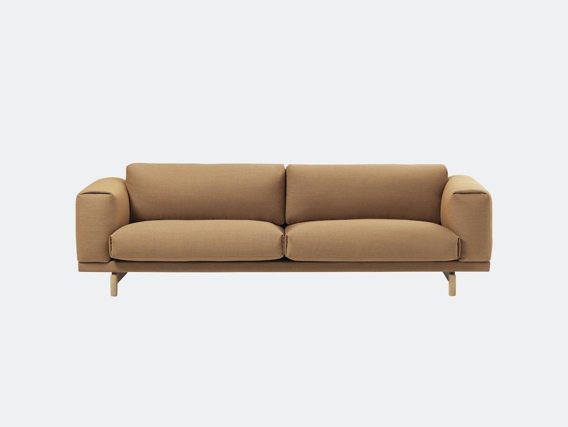Muuto Rest Sofa 3 Seater Fiord 451 Oak Anderssen Voll