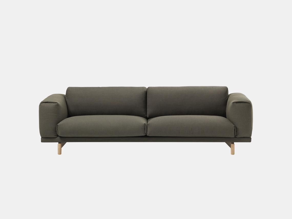 Muuto Rest Sofa 3 Seater Fiord 961 Oak Anderssen Voll