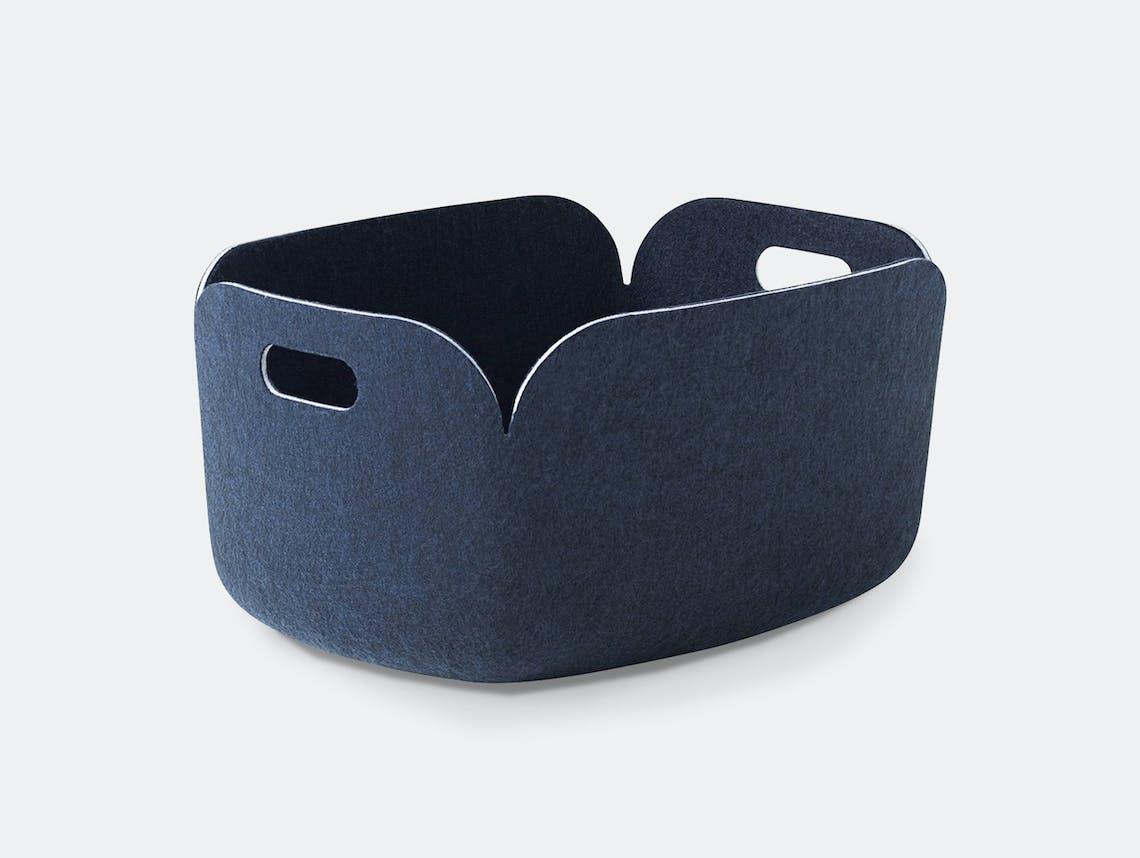 Muuto Restore Basket Midnight Blue