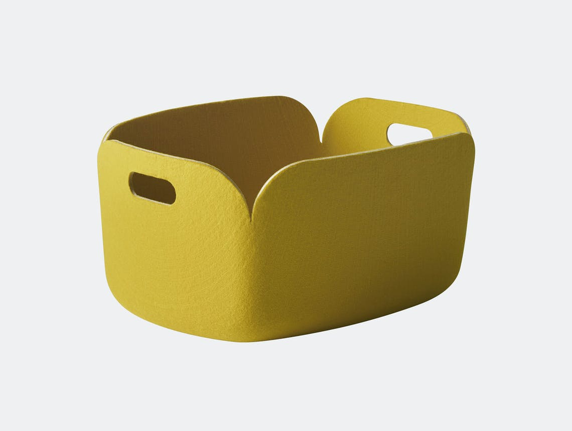 Muuto Restore Basket Yellow Mika Tolvanen