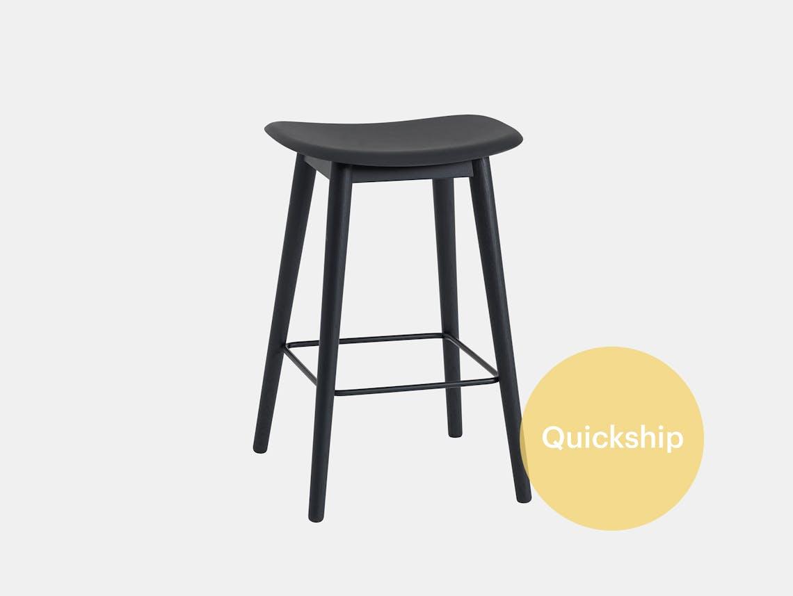 Fiber barstool wood base no backrest qs