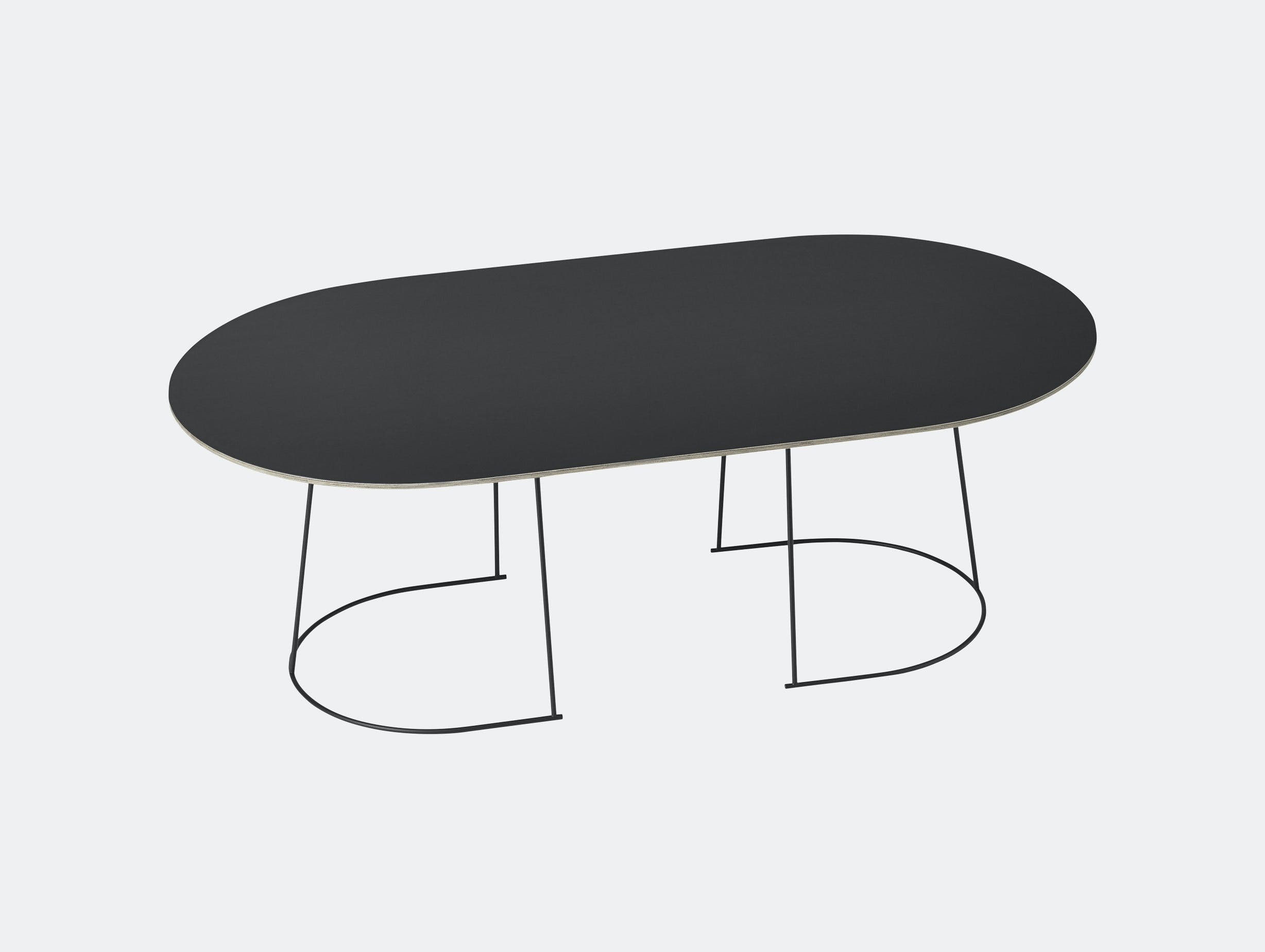 Muuto Airy Coffee Table Large Black Cecilie Manz