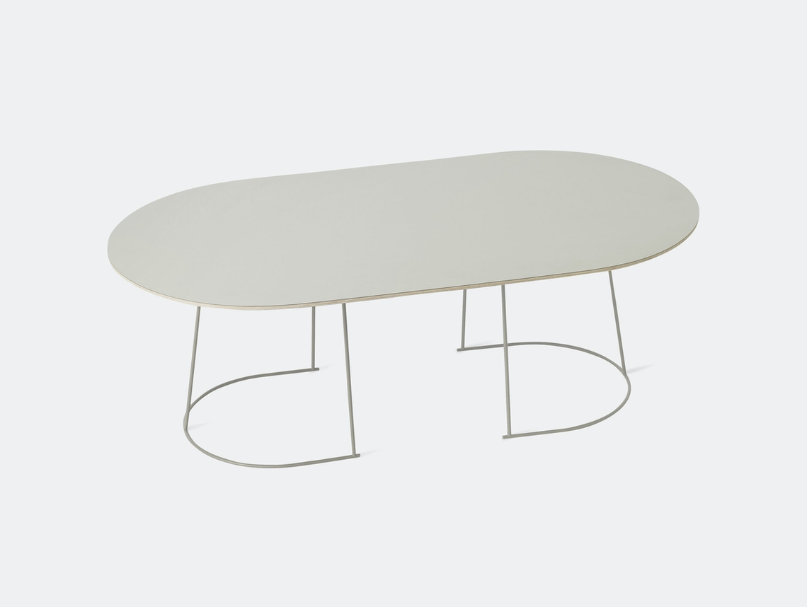 Muuto Airy Coffee Table Large Grey Cecilie Manz