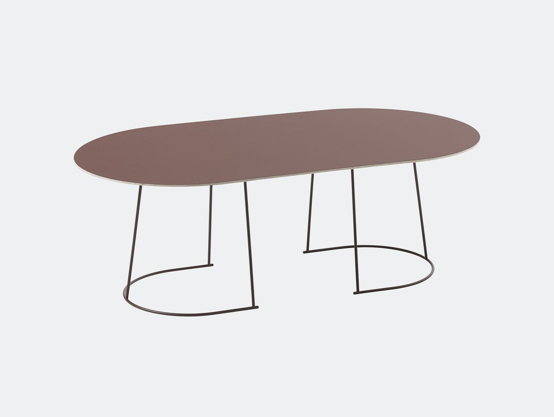 Muuto Airy Coffee Table Large Plum Cecilie Manz