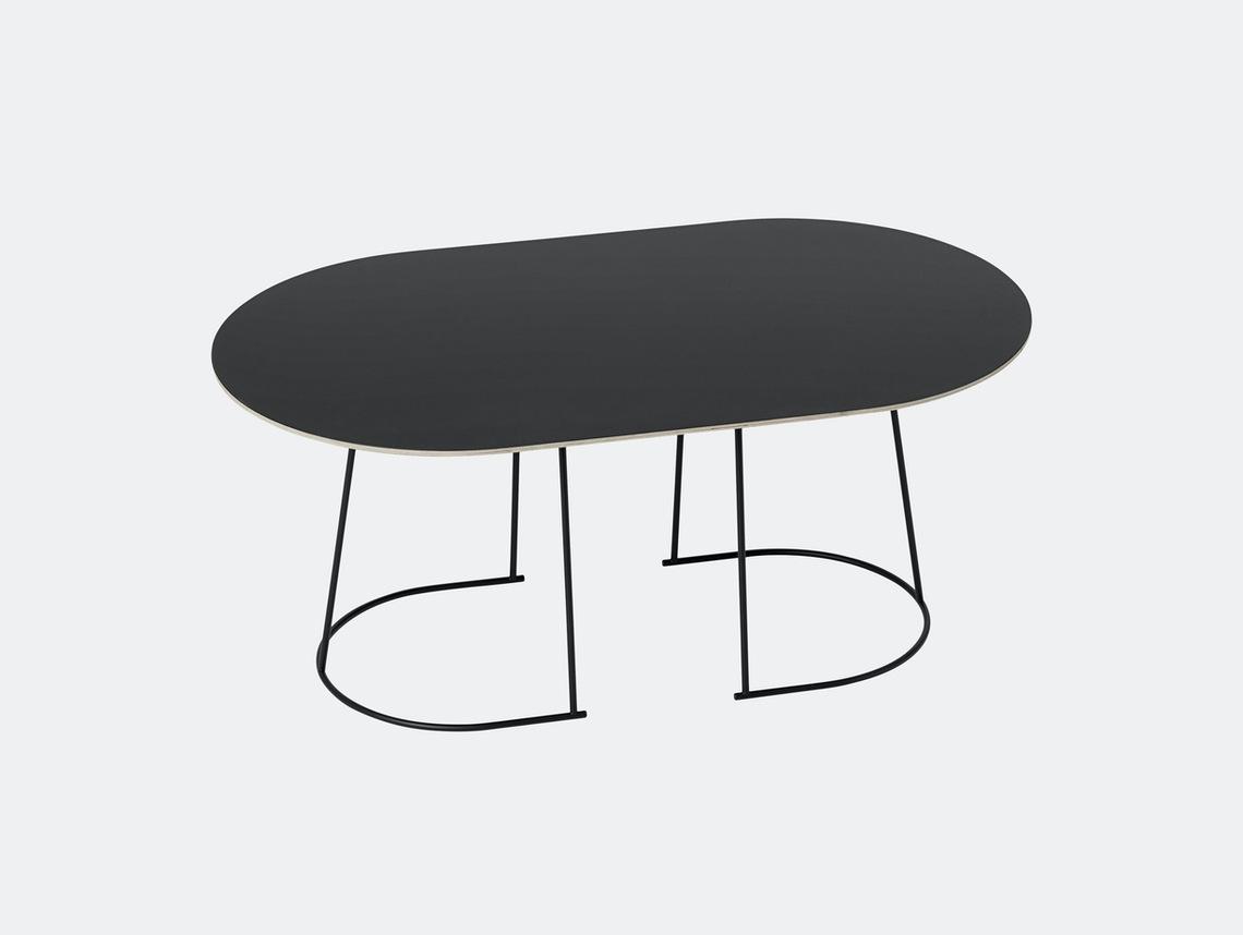 Muuto Airy Coffee Table Medium Black Cecilie Manz