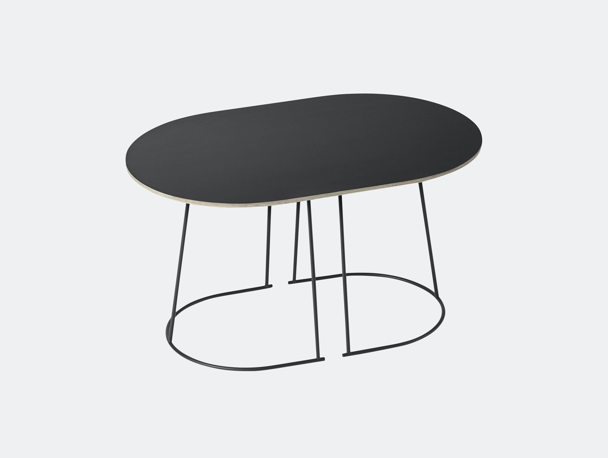 Muuto Airy Coffee Table Small Black Cecilie Manz