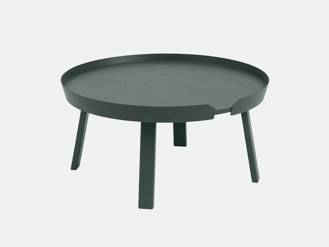 Muuto around coffee table large dark green