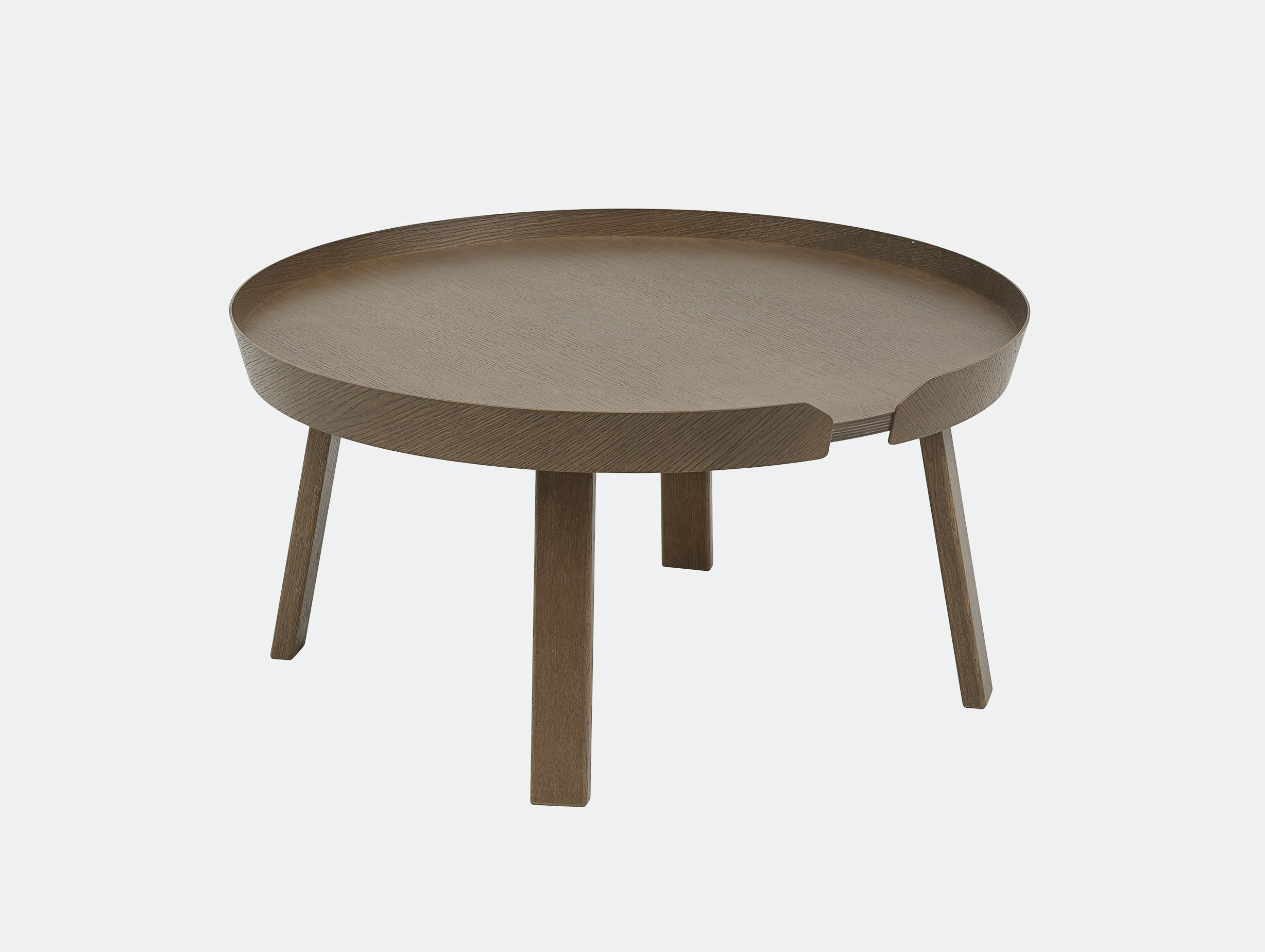 Muuto around coffee table large dark stained brown