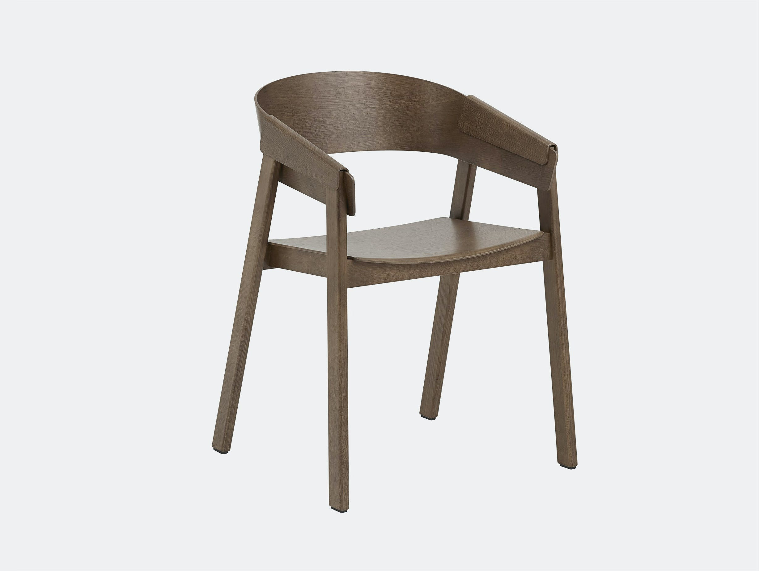 Muuto cover armchair dark stained brown