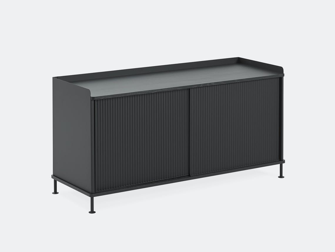 Muuto enfold low sideboard black all