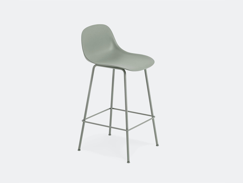 Muuto fiber bar stool tube backrest
