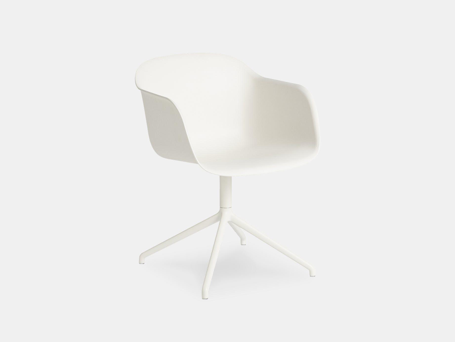 Muuto fiber swivel armchair white
