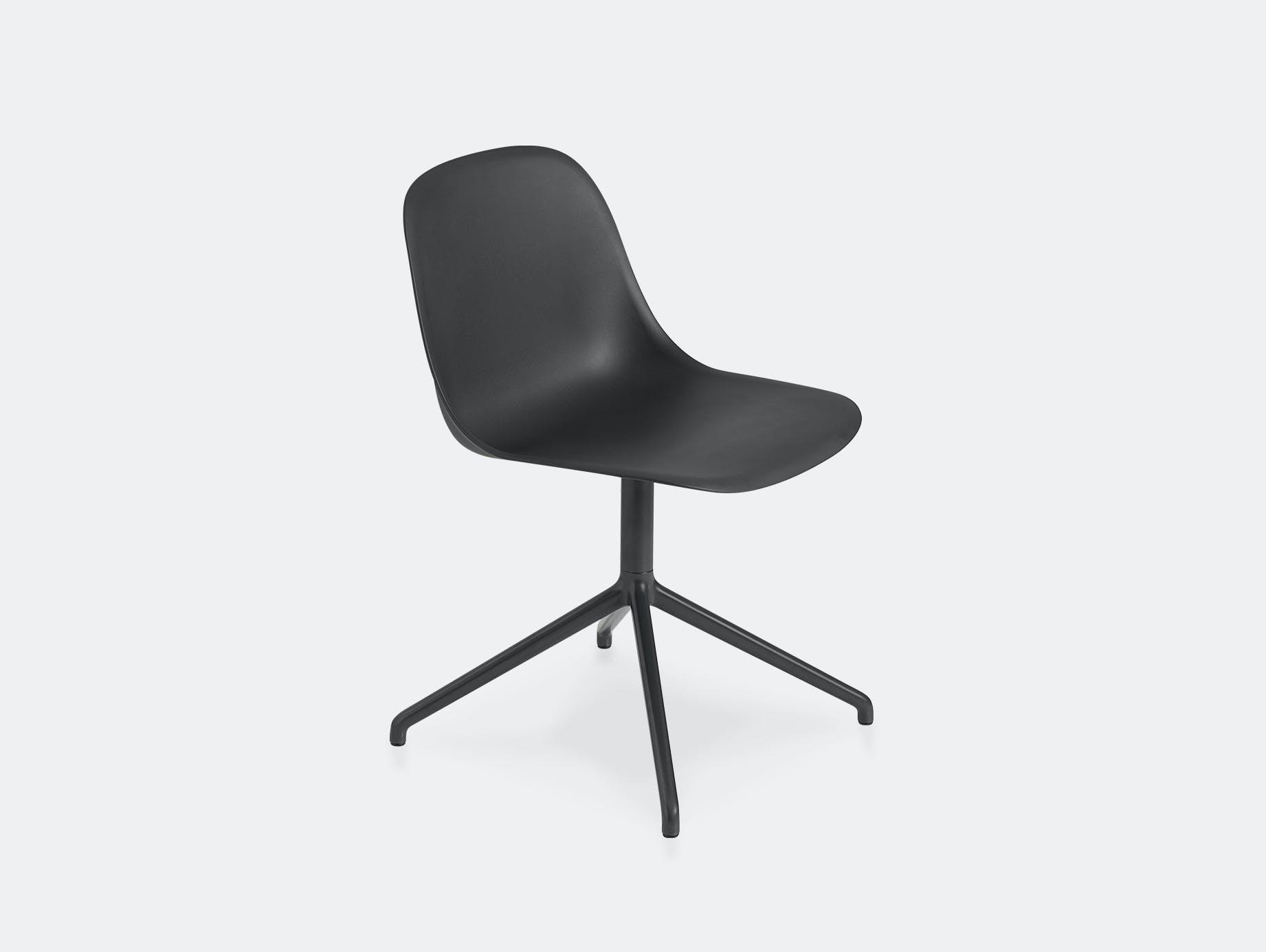 Muuto fiber swivel side chair black