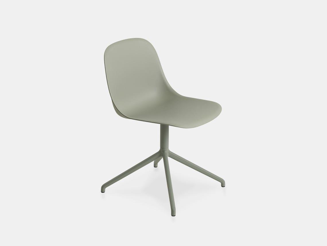Muuto fiber swivel side chair d green