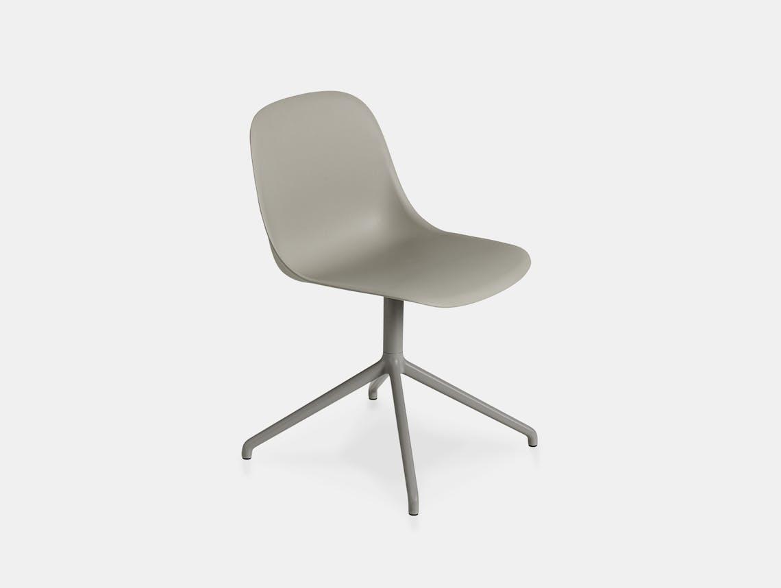 Muuto fiber swivel side chair grey