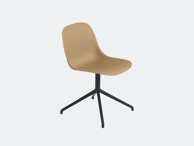 Muuto fiber swivel side chair ochre black