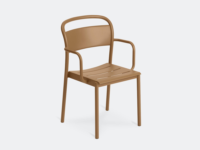 Muuto linear armchair burnt orange front