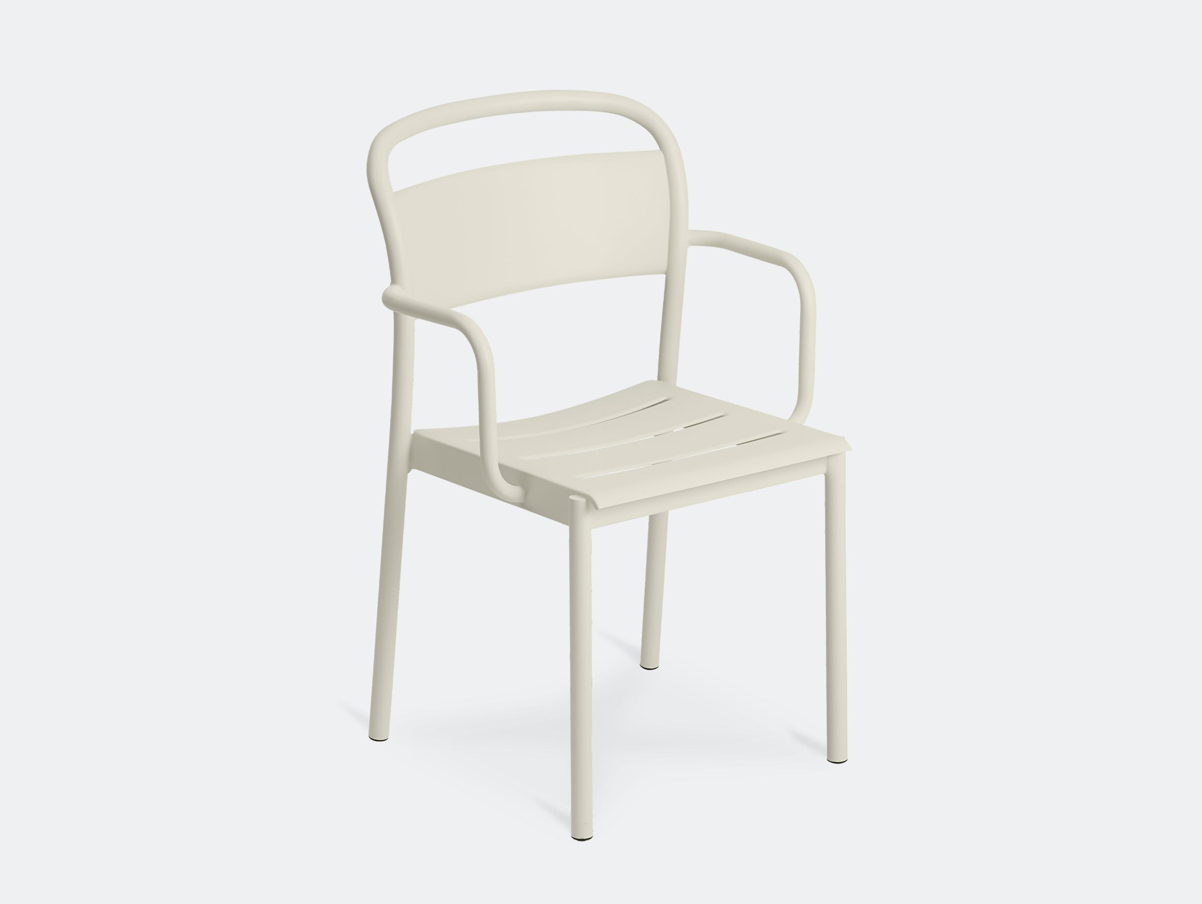 Muuto linear armchair off white front