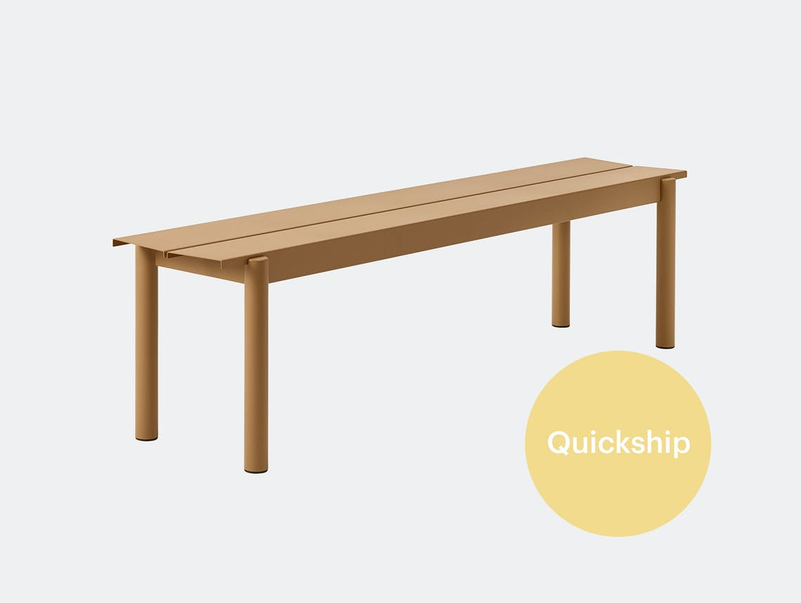 Muuto linear steel outdoor bench qs