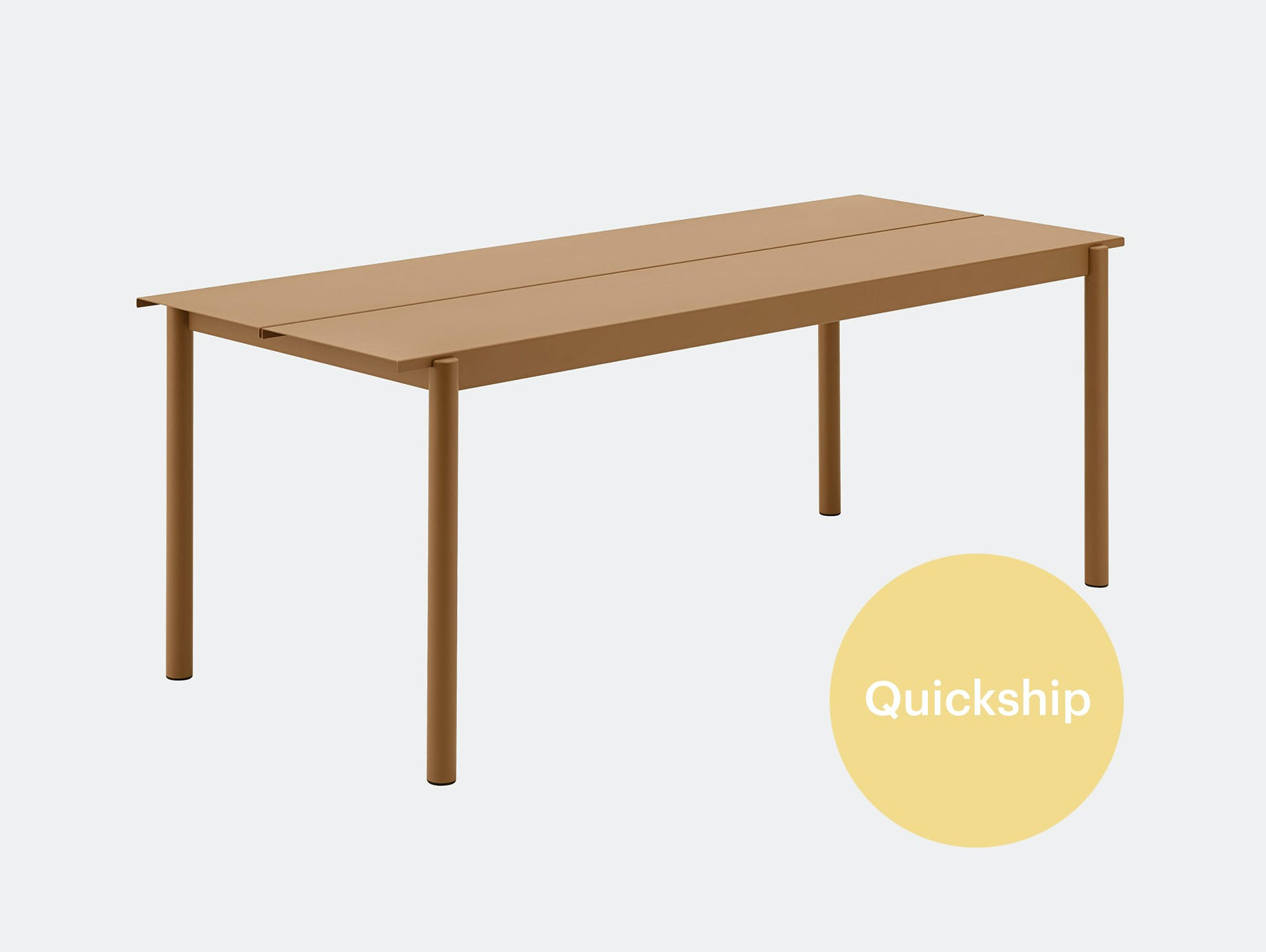 Muuto linear steel outdoor table qs