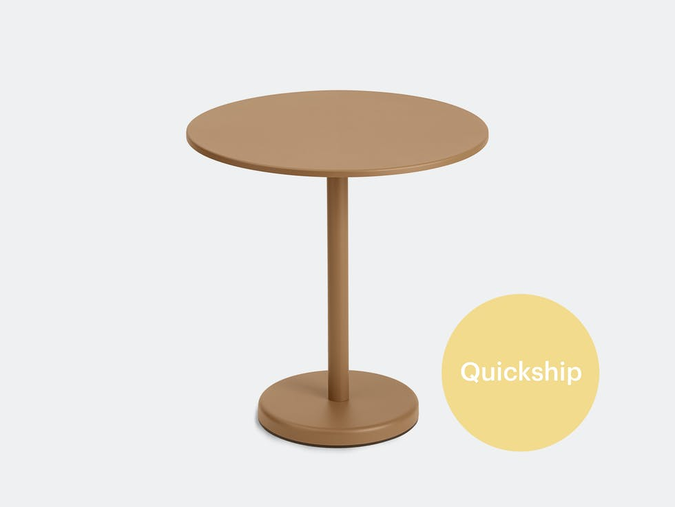 Linear Steel Café Table, Round image