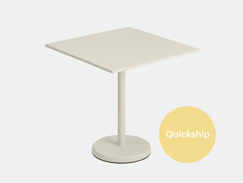 Linear Steel Café Table, Square image