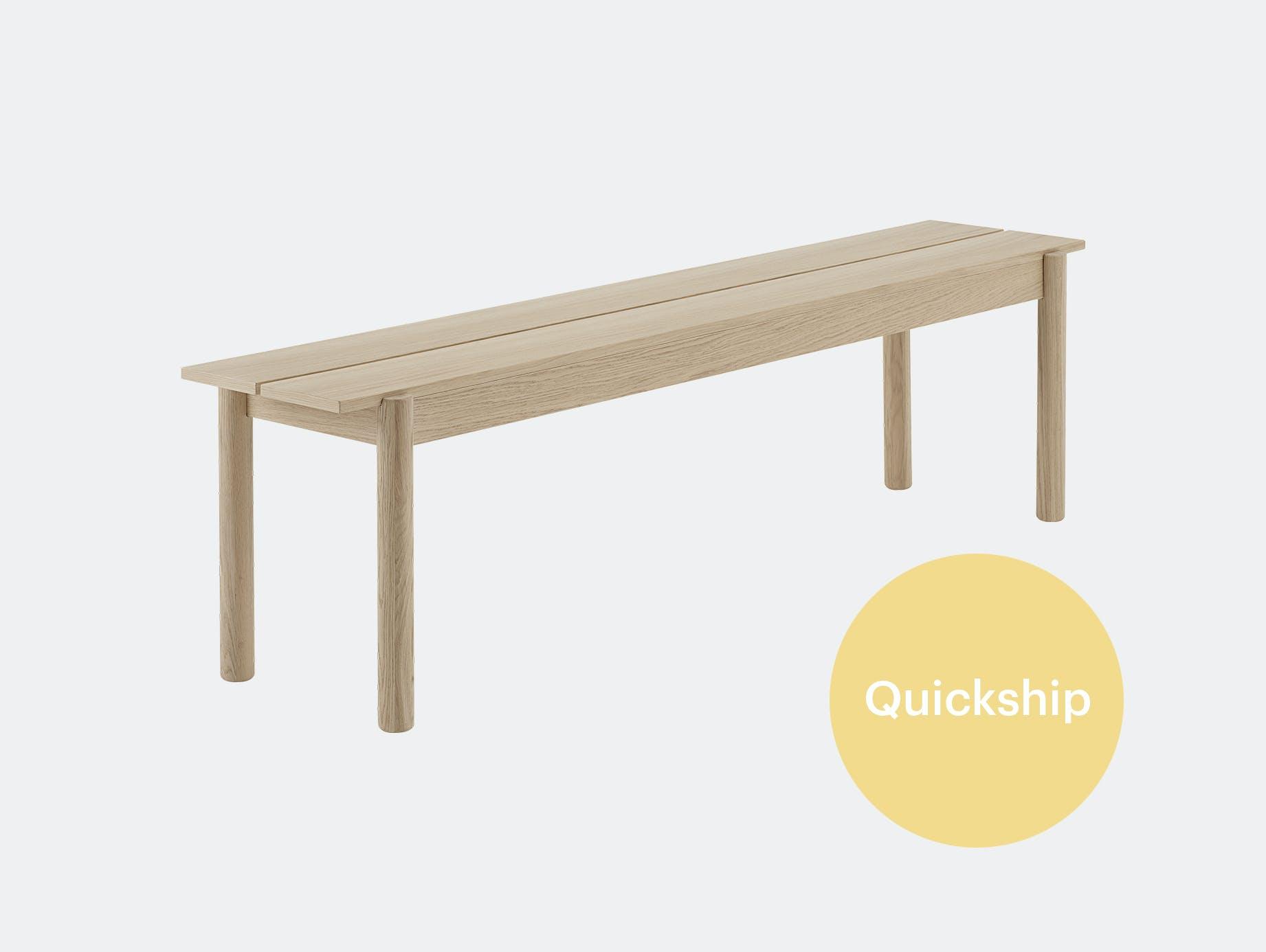 Muuto linear wood bench 170 cm