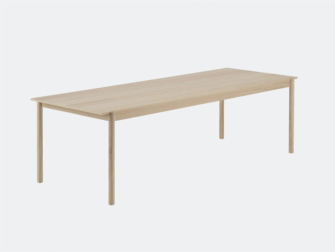 Muuto linear wood table 260 cm length
