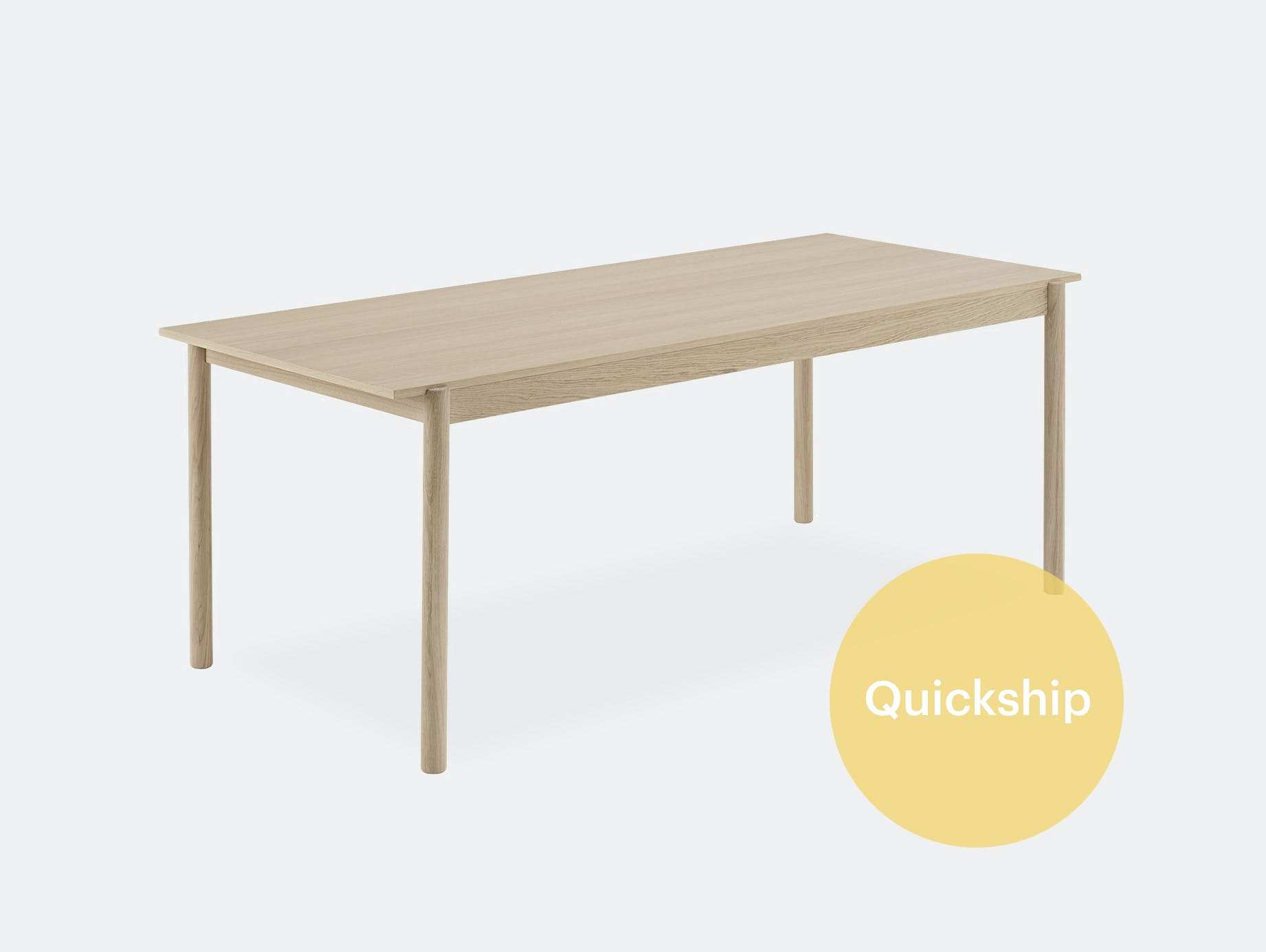 Muuto linear wood table qs