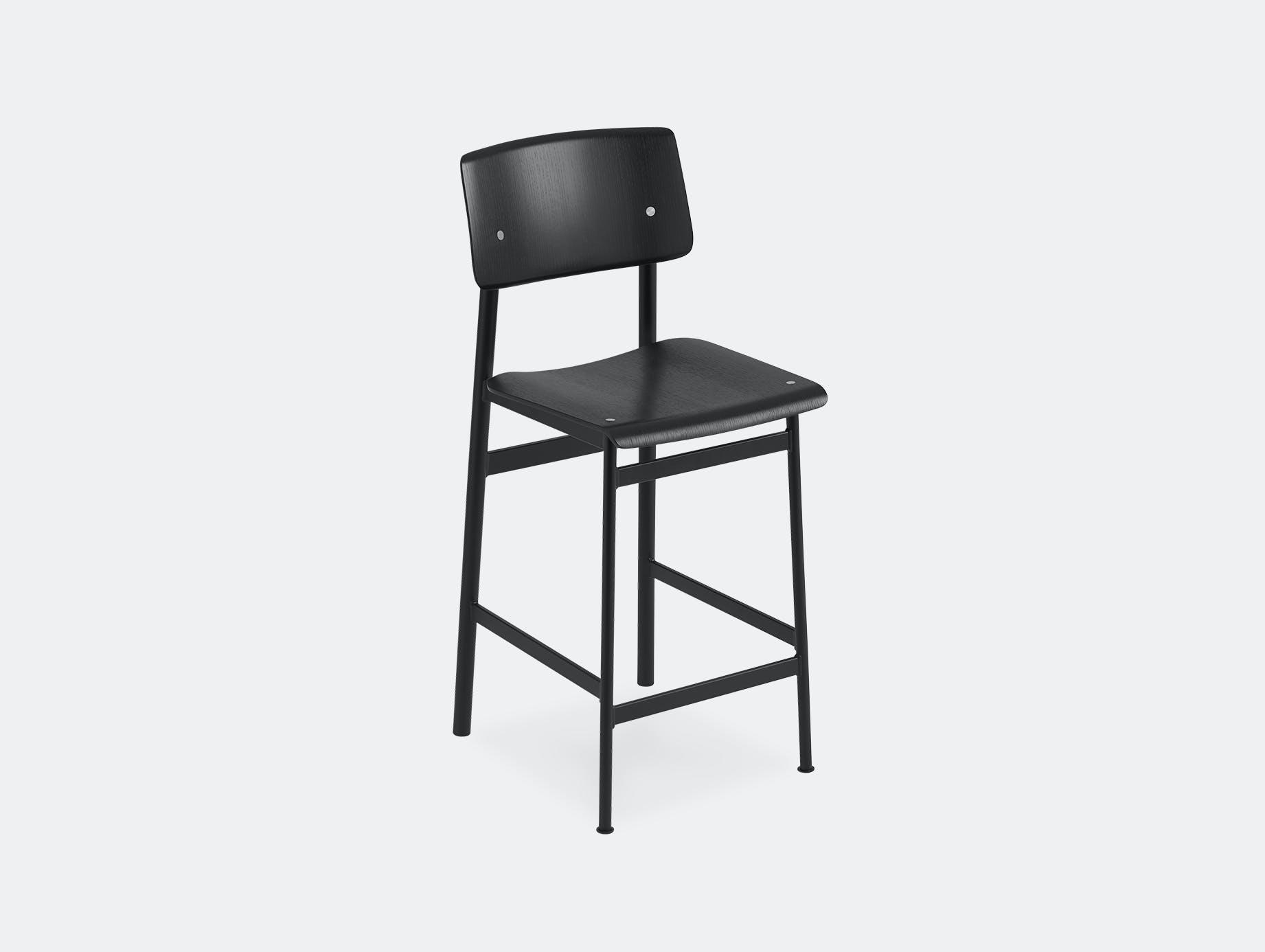 Muuto loft bar stool black