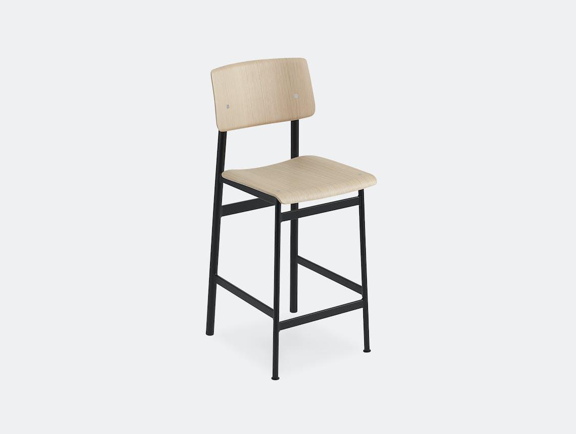 Muuto loft bar stool oak black