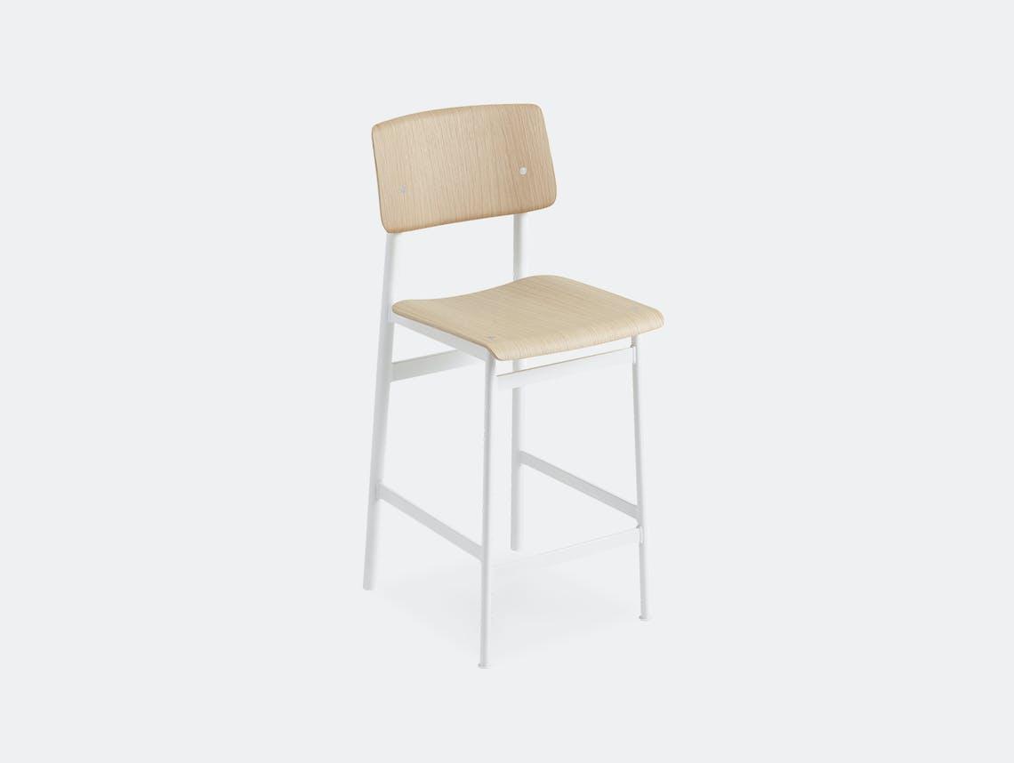 Muuto loft bar stool oak white