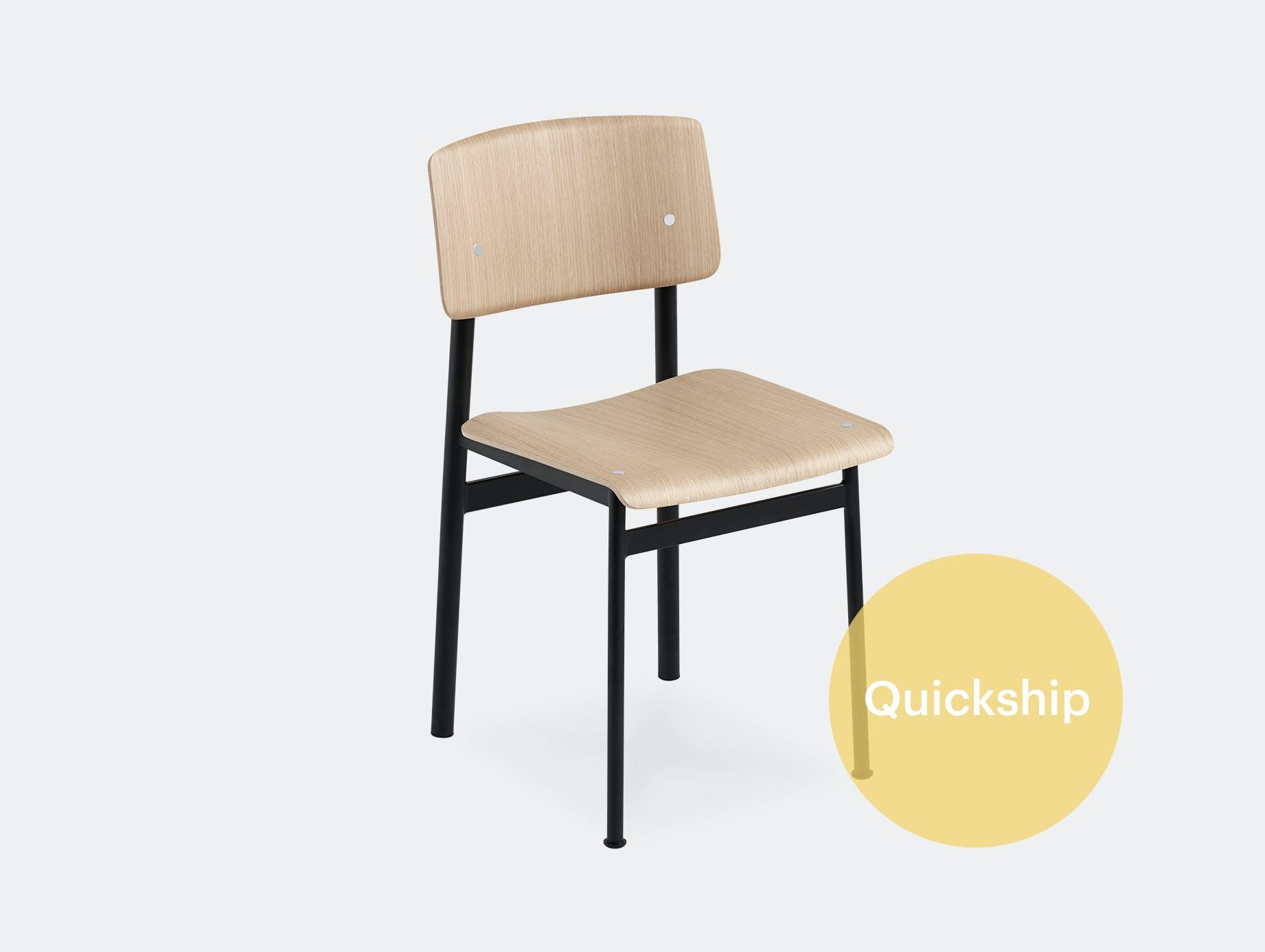 Muuto loft chair black oak qs