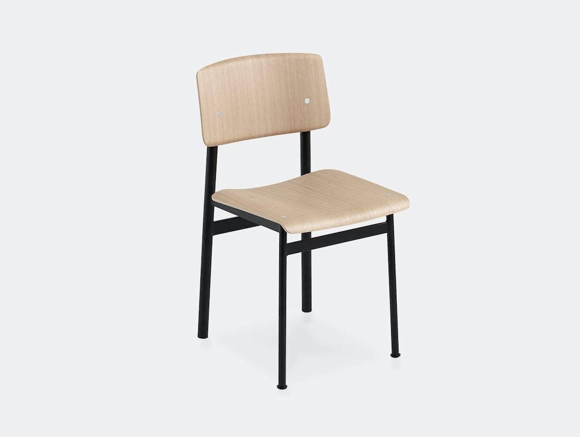 Muuto loft chair black oak